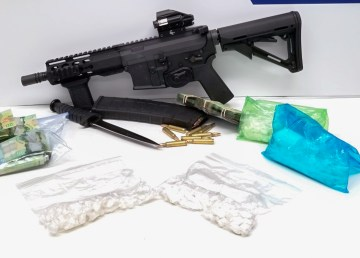 A loaded AR-15 carbine rifle, cocaine, cash and drug trafficking paraphernalia was seized by RCMP on October 20, 2018 during a traffic stop in Fort Providence