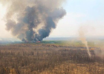 The Lynx Lake Fire in Wood Buffalo National Park. Parks Canada NWT/Facebook