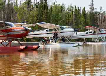 Float planes gather for the 2017 Midnight Sun Fly In
