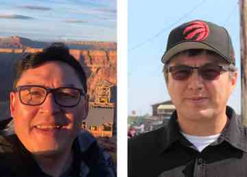 Herb Nakimayak, left, and Frederick Blake Jr are seen in submitted photos