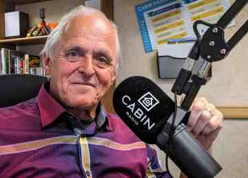 John Kidder in Cabin Radio's Studio One in July 2019
