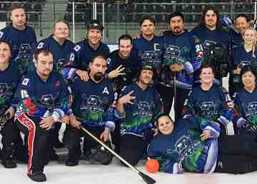 United Coyotes broomball team