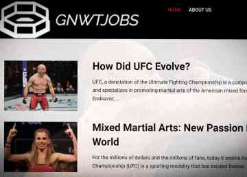 A screengrab of a UFC blog entitled GNWTJOBS on December 2, 2019