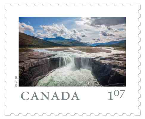 How the waterfall looks in the finished stamp