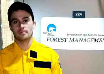 Spencer Porter, one of four NWT wildfire specialists being deployed to Australia, in a photo issued by the NWT government