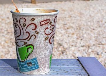 An example of a foam beverage cup
