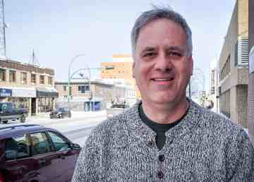 Tom Weegar in downtown Yellowknife on February 19, 2020