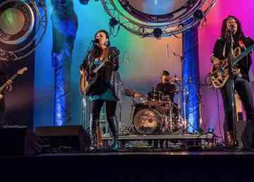 A supplied photo of Leela Gilday in concert