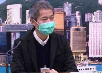 Dr Wong Ka-hing, controller of Hong Kong's Centre for Health Protection, conducts a news conference in March 2020