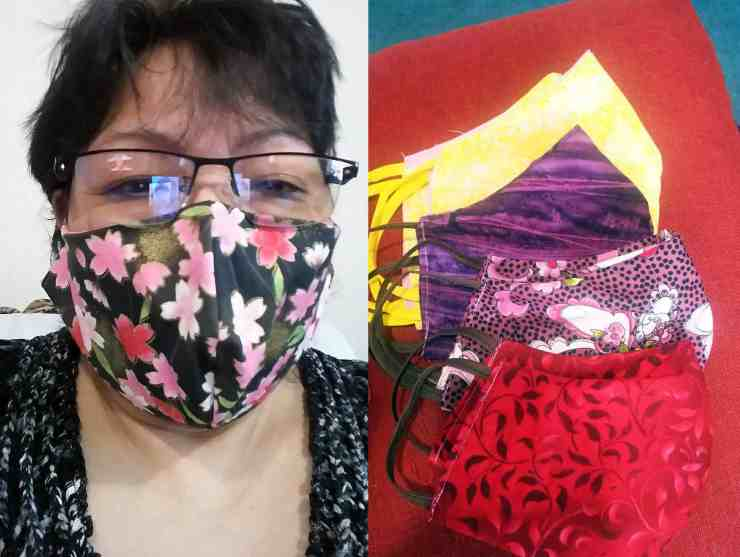 Emily MacLean sent these photos of her efforts sewing homemade masks non-stop in Fort Resolution