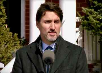 Justin Trudeau addresses the nation on March 16, 2020