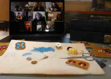 Beaders across North America have joined Tania Larsson's online beading circle to connect during Covid-19
