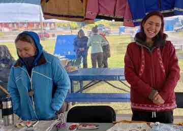 A stall at Inuvik's Arctic Market in a photo uploaded by the market to Facebook