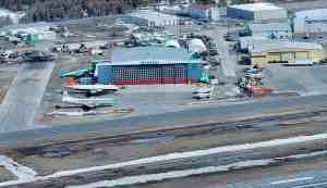 Buffalo Airways' hangar in May 2020
