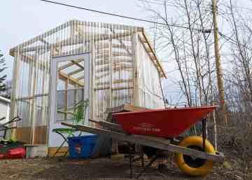 A photo of France Benoit's urban farm in Yellowknife. Sarah Pruys/Cabin Radio