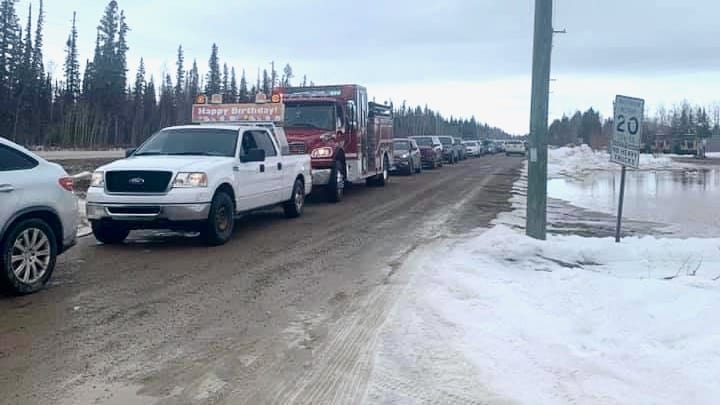 A Hay River birthday parade