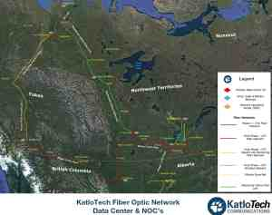 A map shows KatloTech's planned fibre optic network.
