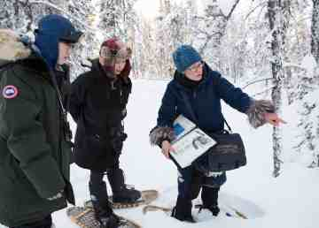 Rosie Strong, right, has been leading tours in Yellowknife for 30 years