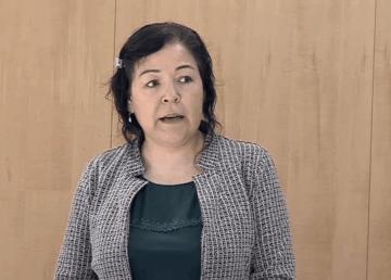 Diane Thom speaks in the legislature in May 2020