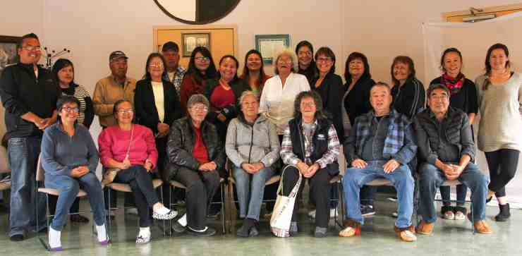 From October 1 to 7, 2019, Elders, youth, fluent language speakers and staff members gathered at the Katł'o'deeche Dene Wellness Centre to work on the video series