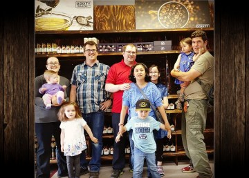 From left, Nsixty Trading Company owners and their children Joanna Westwell, Chris Westwell, Matthew and Valarie Skaarup, and Gord Rothnie in their new Fort Smith store. Chris Westwell/Nsixty Trading Company