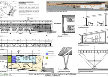 Plans for the new visitor centre and Arctic Market building in Inuvik