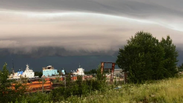 Monday's storm seen from Hay River Territorial Park
