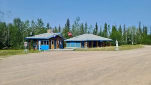The visitor centre at Sambaa Deh Falls territorial park