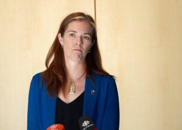 Minister Caroline Wawzonek at the NWT legislature in September 2020