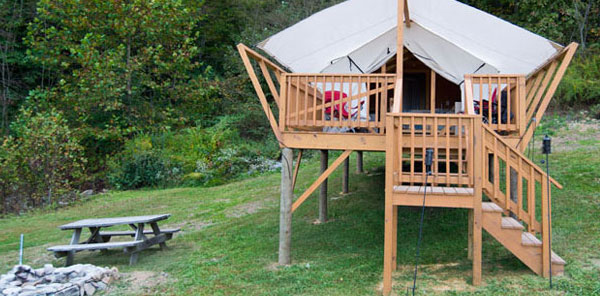 The Cabins at Pinehaven, WV Outdoor Adventure Package, Glamping