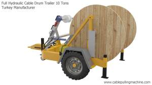 Full Hydraulic Cable Drum Trailer 10 Tons Manucafturer Turkey 8 full hydraulic cable drum trailers Full Hydraulic Cable Drum Trailers AUTO10 Full Hydraulic Cable Drum Trailer 10 Tons Manucafturer Turkey 8