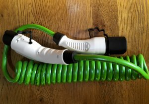 EV Cable Green top view