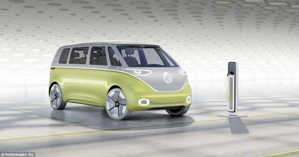 two tone vw id buzz front view