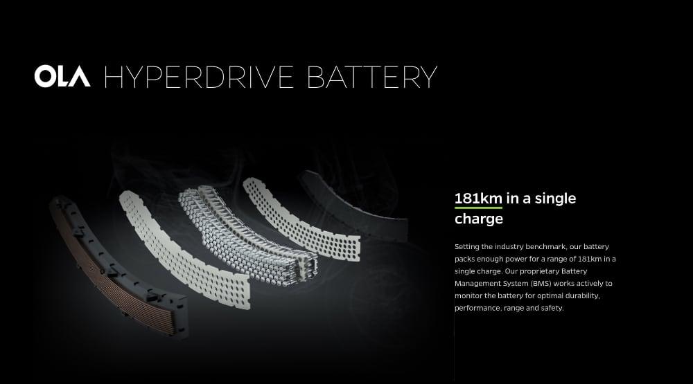 Ola battery pack