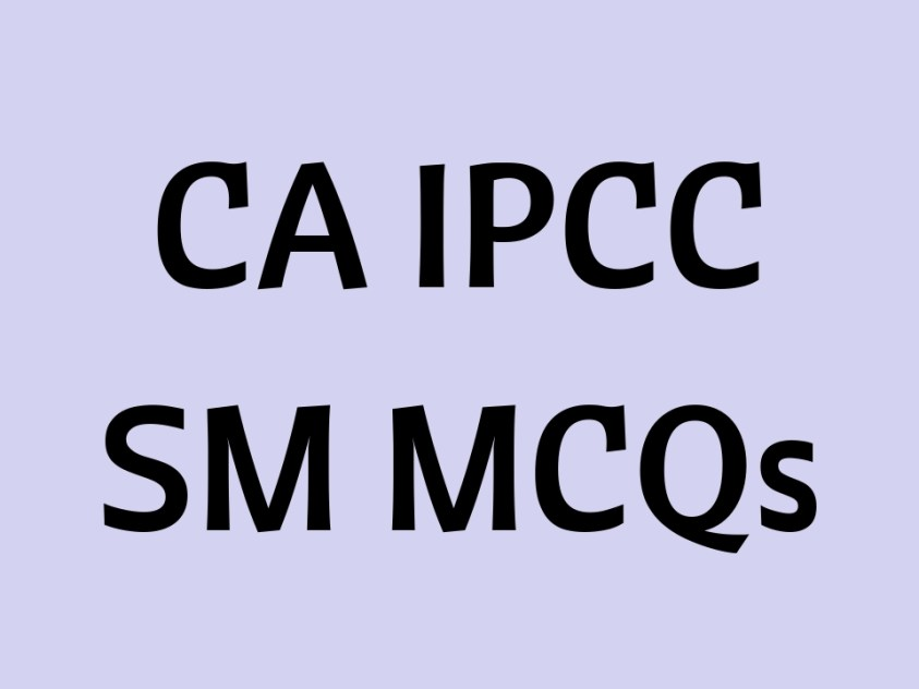 CA IPCC SM MCQs