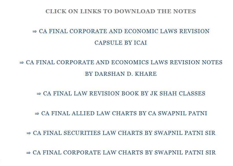 CA FINAL LAW NOTES