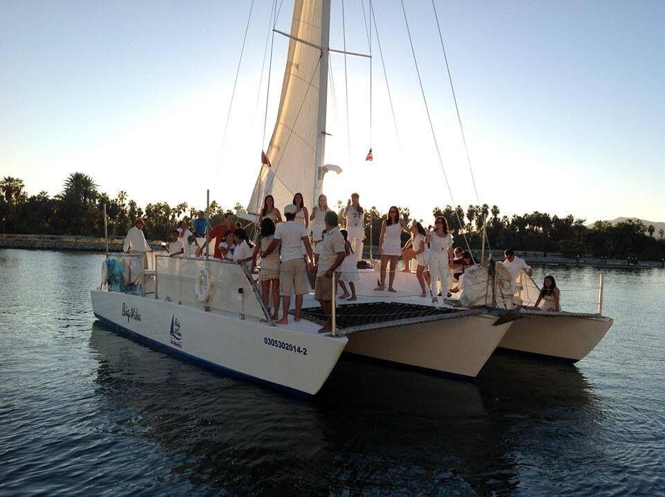 Big Mikes trimaran cabo sailing charters cabo san lucas whale watching, snorkeling and sunset cruise