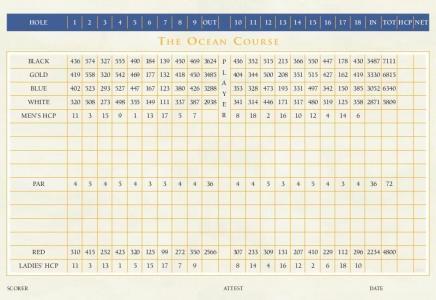 cabo del sol ocean golf cours back side of scorecard