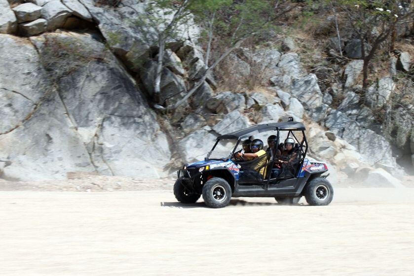 Cactus ATV Tours Polaris RZR RAZR Razor ATV Beach and desert Tour Cabo San Lucas 4 seater
