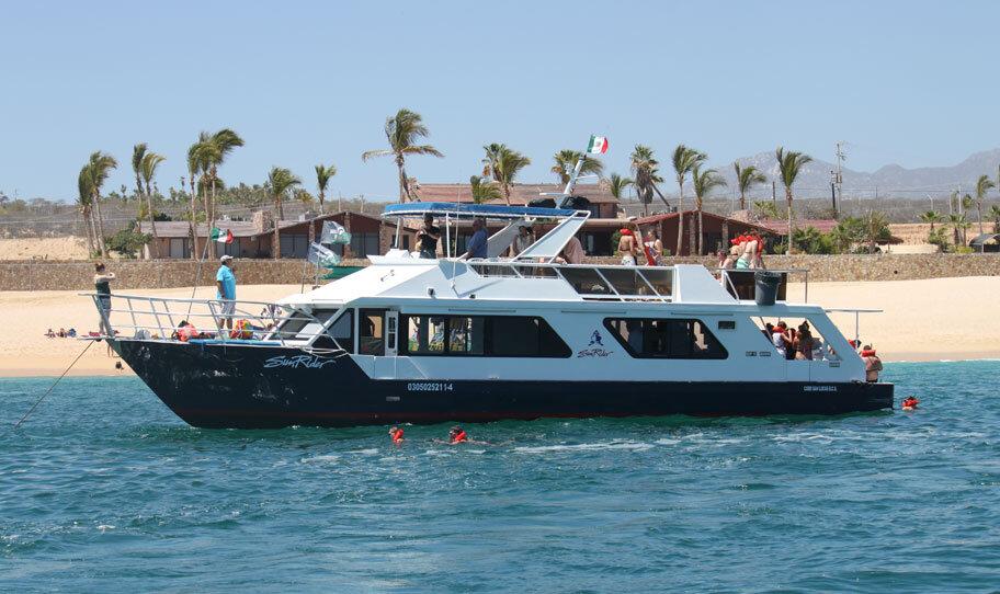 sunrider snorkeling tours to santa maria bay or chileno bay