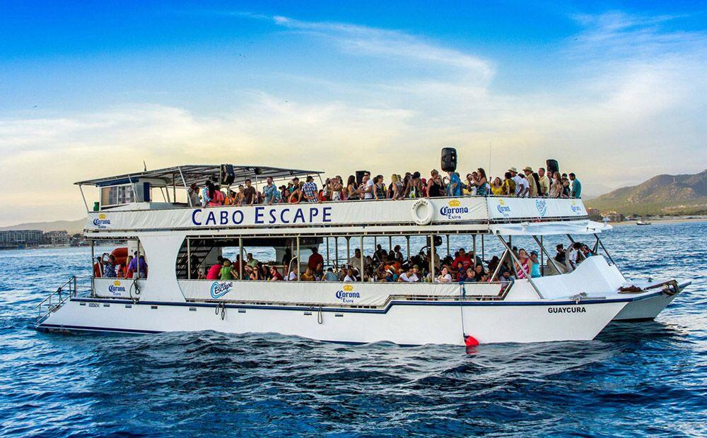 Enjoy the Sunset aboard Cabos best sunset cruise Cabo Escape cabo activities wild cabo tours