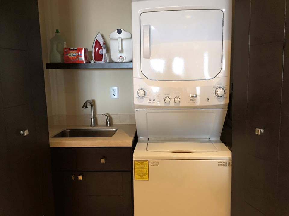 Washer and Dryer can be found in the Laundry of the Copala Condo in Los Cabos Mexico