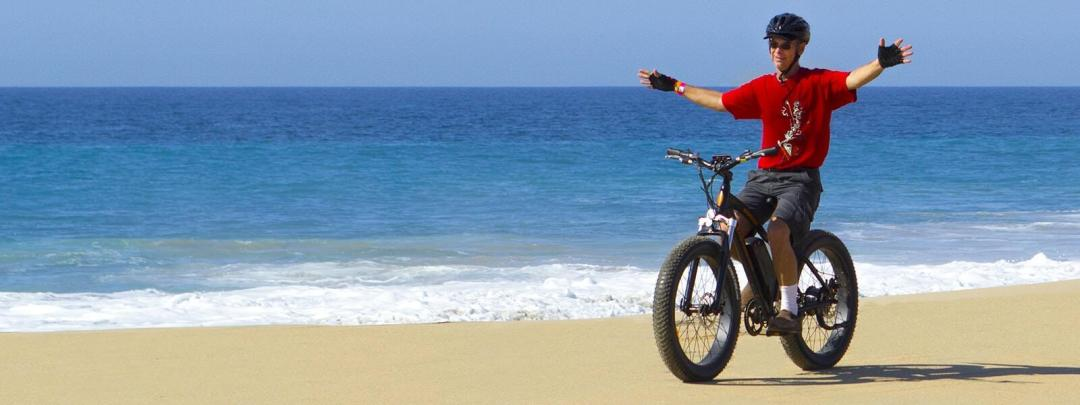 fun on the beaches of cabo san lucas with electric bike beach ride by cabo adventures