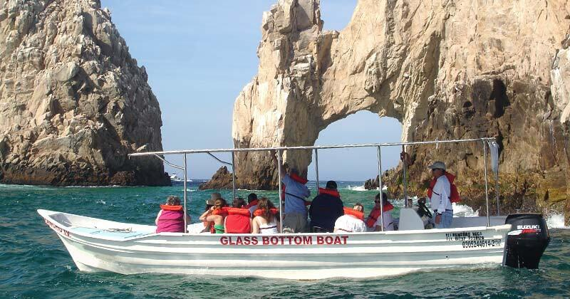 glass bottom boat tours to see the arch in cabo san lucas