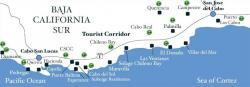 map of the golf courses in and around los cabos and cabo san lucas