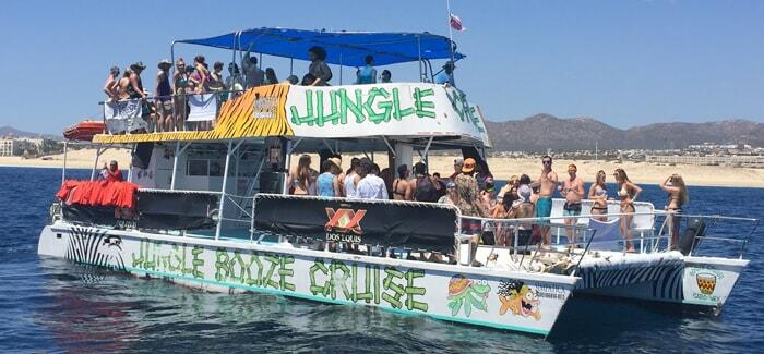 jungle cruise cabo san lucas, best booze cruise for cabo spring break snorkeling tour