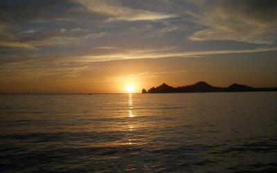 Cabo San Lucas Sunset Cruises in the Cabo Bay, near Medano Beach