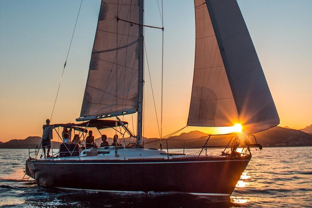 pursuit of cortez sailing charter with wild canyon, sailing from the puerto los cabos marina in san jose del cabo cabo activities small sailing yachts