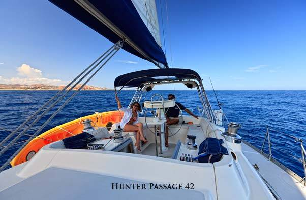 cabo sailing 42 ft Mistral and Synergy great for snorkelling, day sailing or cabo sunset sailing tours, located in cabo san lucas, private sailing charters