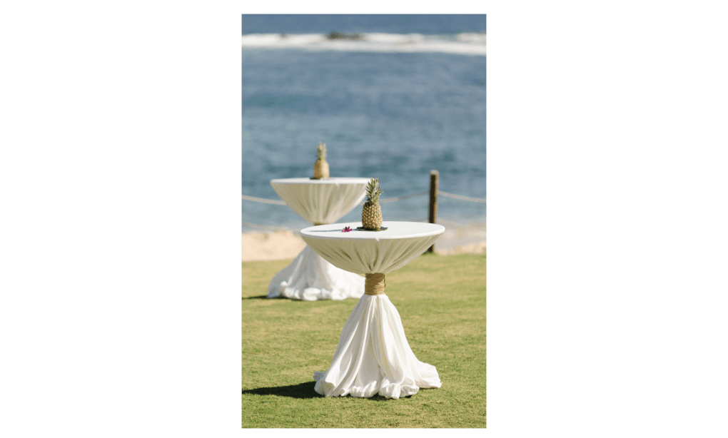 Cocktail Hour: Different High Tops for your Event in Cabo